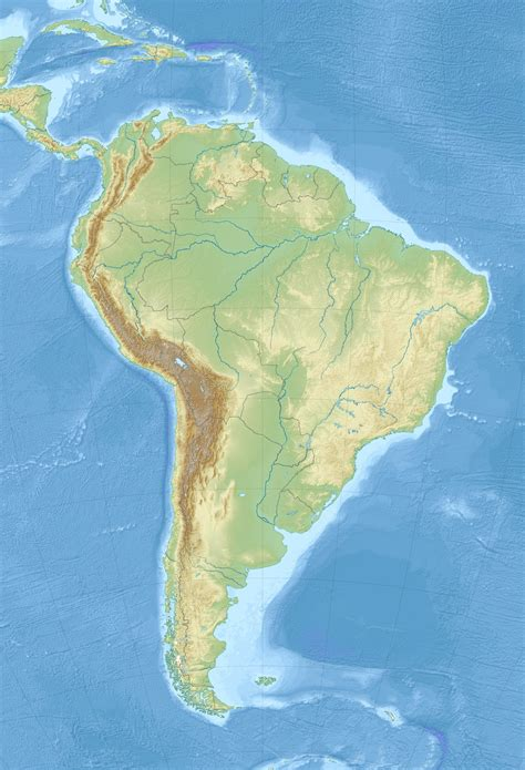 america relief map south america relief map