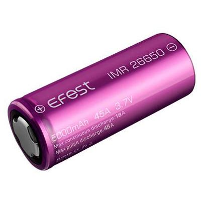 Diskon Efest Imr 26650 Battery 4200mah 3 7v 50a With Flat Top efest imr 26650 battery 5000mah 3 7v 45a with flat top purple jakartanotebook