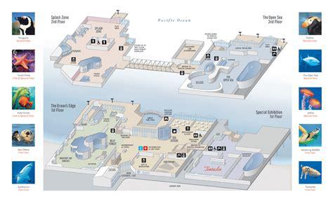 Floor Plan App tour operator program at the monterey bay aquarium
