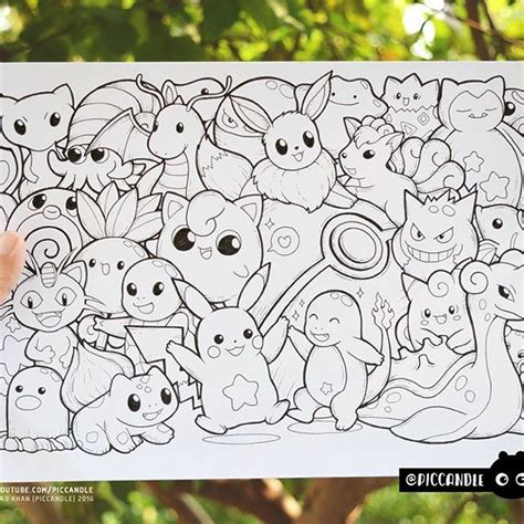 doodle page ideas inktober day 11 pok 233 mon inktober2016 doodle coloring