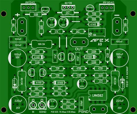Pcb Power Apex pcb power lifier apex a9 klank versterker