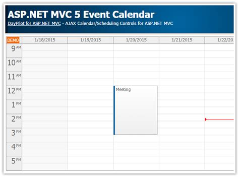 aspnet mvc event calendar daypilot code