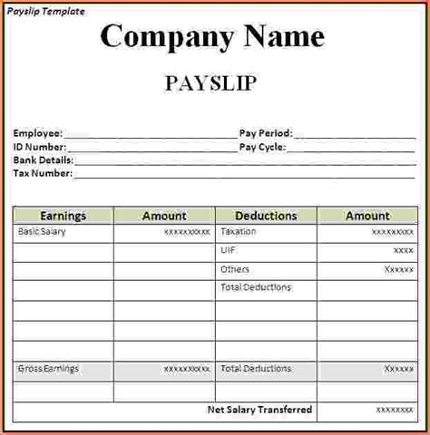 Sample Video Resume by Payslip Template Ireland Okl Mindsprout Co