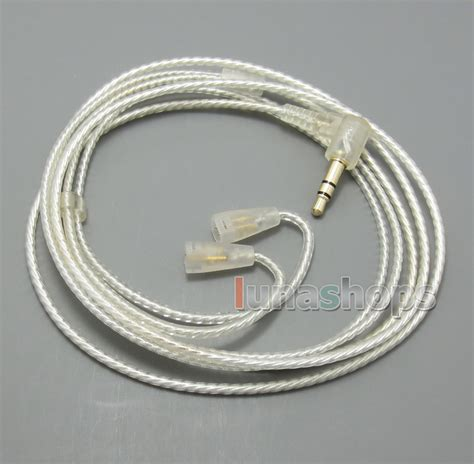 Earphone Sennheiser Ie 8 silver plated occ hifi earphone cable for sennheiser ie8