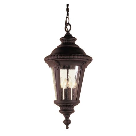 Lowes Portfolio Pendant Light Shop Portfolio 22 In H Black Outdoor Pendant Light At Lowes