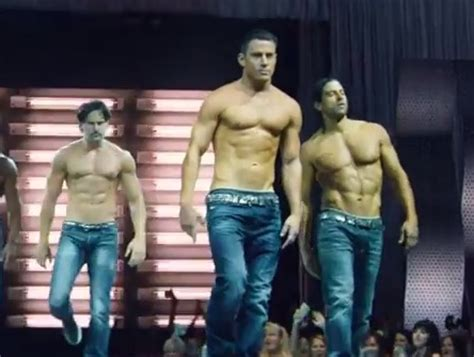 michael strahan out abs channing tatum on the magic mike magic mike xxl trailer channing tatum with his shirt