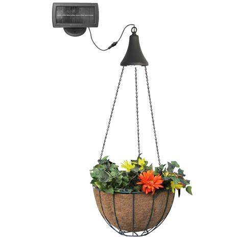 Gama Sonic Hanging Basket With Solar Light The Home Solar Hanging Lights