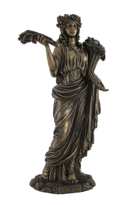 demeter greek goddess statue greek goddess of harvest demeter bronzed statue ebay