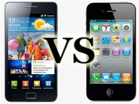 Android Vs Samsung by Iphone 4 Vs Samsung Galaxy Sii Android Authority