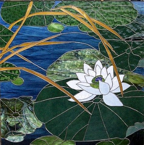 mosaic lily pattern lotus stained glass http www panedexpressions com