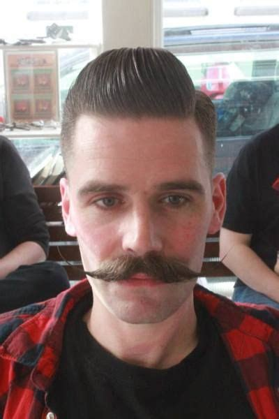 haircuts that go with a handlebar mustache 27 best hair images on pinterest barbershop barber