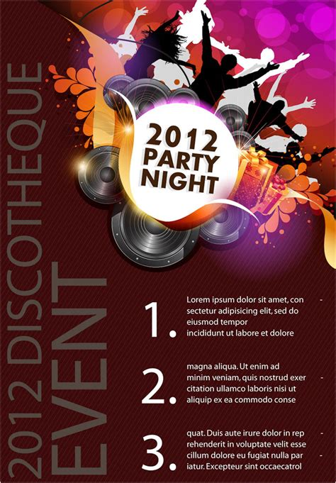 templates for party posters party night poster vector vector graphics blog