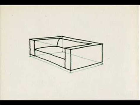 how to draw a 3d sofa how to draw a sofa youtube