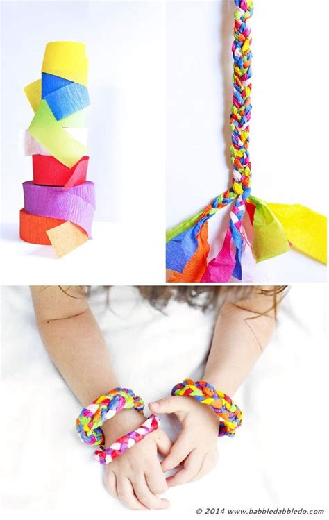 Crepe Paper Craft - design for crepe paper bracelets bracelets