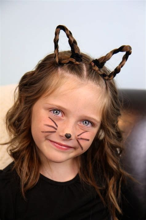 diy halloween costume ideas bear cat ears hairstyle braided kitty cat ears halloween hairstyles cute