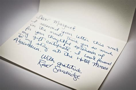 Thank You Letter Hotel Staff hotel monaco year of letters