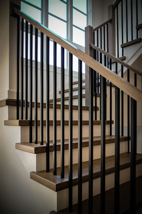 Metal Banister by Building A Modern Railing In 2016