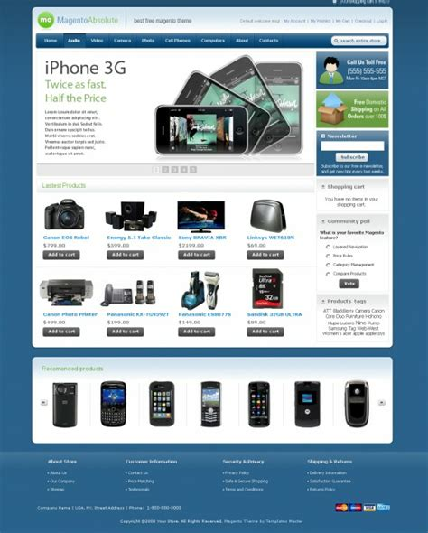 electronics templates for blogger top 13 free magento themes iconspedia