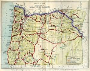 map of state of oregon oregon of state route map