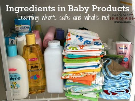 toxic baby products three common ingredients in natural baby products you