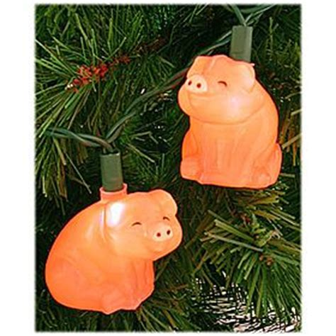 pig christmas lights used to hang these with christmas