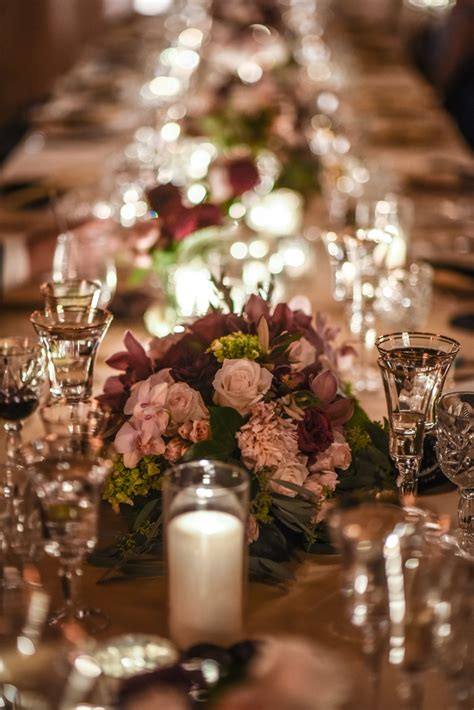 burgundy wedding table centerpieces reception d 233 cor photos low centerpieces in burgundy and