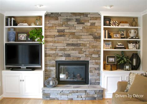 Transforming A Fireplace And Built In Bookcases Love The Fireplace Built In Bookshelves