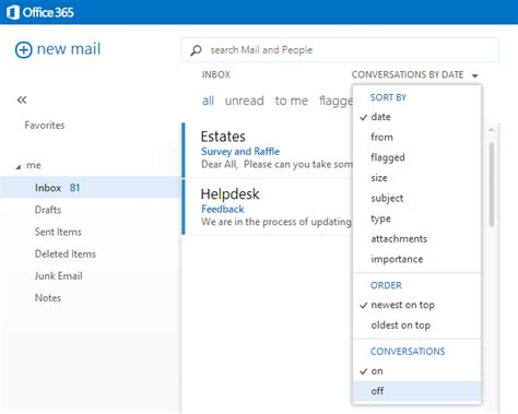 Office 365 Turn Conversation Tips Where Did My Emails Go In Office 365 Outlook