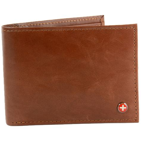 Bifold Wallet alpine swiss rfid blocking mens leather bifold wallet
