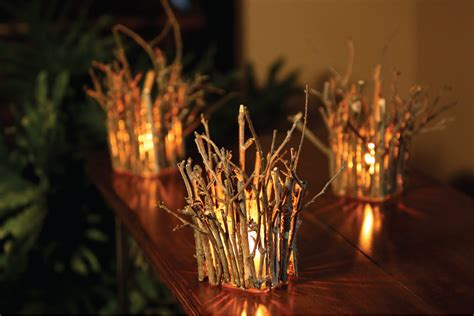 25 Breathtakingly Beautiful Fall Centerpieces Screaming Twigs With Lights