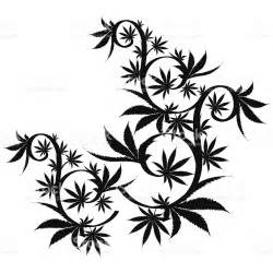 vector cannabis leaf silhouette on white background