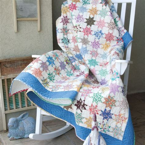 Mccalls Patchwork Patterns - bright vintage scrappy quilt pattern designed by