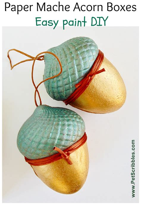 How To Make Paper Mache Easy - paper mach 233 acorn boxes easy paint diy