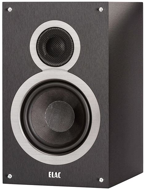elac debut b6 black brushed vinyl bookshelf speaker pair