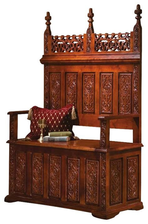 victorian storage bench york monastery gothic bench victorian accent and