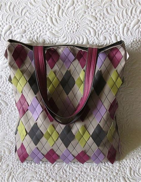 quilting leather tutorial faux leather bag in argyle pattern geta s quilting studio