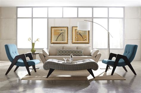 Midcentury Living Room by Before After Mid Century Modern Living Room Design