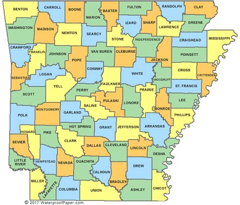 Arkansas County Outline Map by Printable Arkansas Maps State Outline County Cities