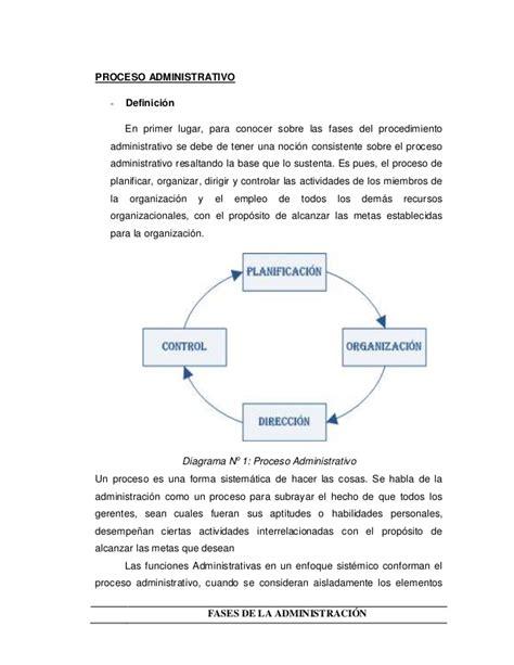 control administrativo fases fases del proceso administrativo