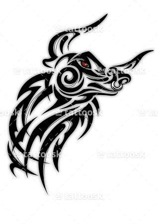 ox tribal tattoo sbink tribal bull https tattoosk tribal