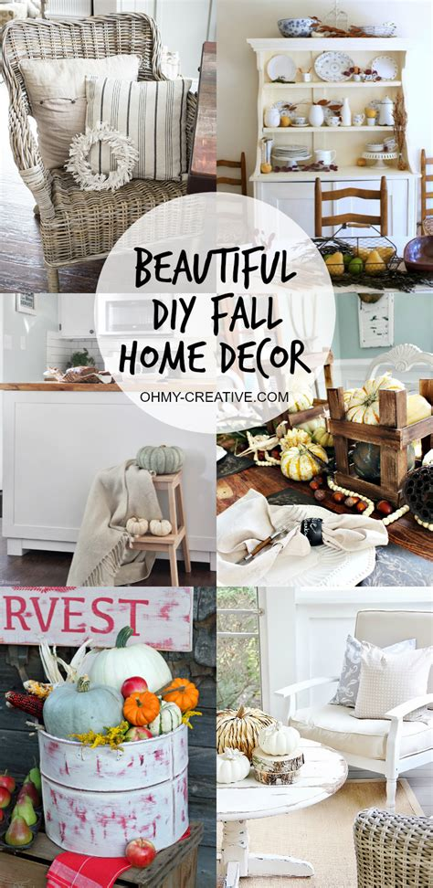 do it yourself ideas for home decorating beautiful do it yourself fall home decor oh my creative