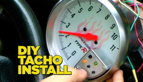 how to install a tacho