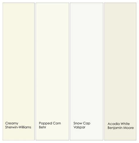 behr creamy white warm white trim paint from left to right 1 creamy