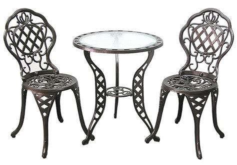 patio furniture bistro set cast aluminum iron regis
