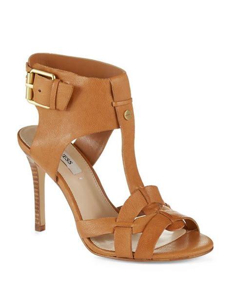 Sandal Fashion 014 guess hyanne leather sandals brown fashion