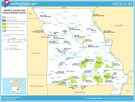 indian reservations usa map map of missouri map federal lands and indian reservations