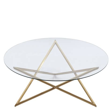 Crest Coffee Table Armen Living Crest Coffee Table Gold Al Lccrcoglgd At Homelement