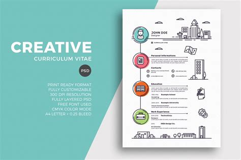 Creative Templates by 50 Best Cv Resume Templates Of 2018 Design Shack