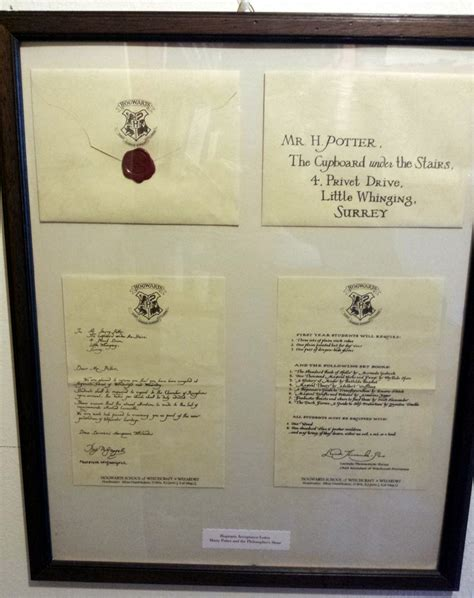 Harry Potter Acceptance Letter Replica Props Replicas Prop Replicas