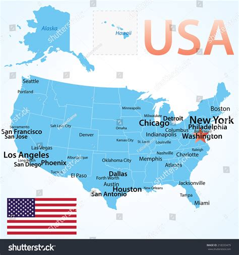 us map with cities largest cities in the us map wall hd 2018